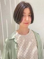 カサネ(casane)【CASANE下北沢】ショートボブ×ブルーグレージュ