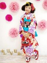 七五三のヘアメイク&着付けもGEKKABIJINでキマリ☆可愛い7歳着物レンタルは20000円から取り揃えております