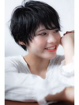 エルフォ(elfo)【elfo】黒髪ショートはゆるパーマで大人っぽく!!