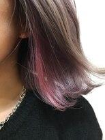 【GOOD DAY HAIR】《インナーカラー×ペールピンク》 下北沢