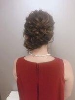 ピエドプールポッシュ(PiED DE POULE POCHE)* arrange hair *