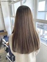 髪質改善×縮毛矯正Aシルエットストレート