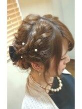 モイヘアーデザイン(moi hair design)ゆるふわ編み込みアップ
