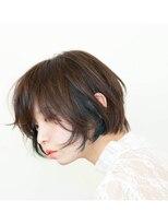 【NiL】グラデーションカラーショート × ブルーアッシュ