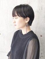 【SiSTA】暗髪×耳掛けショート