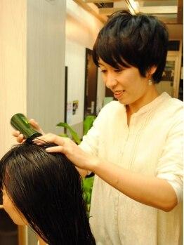 ヘアーリッジ オリーブ(hair Ridge OLIVE)の写真/お客様の髪と頭皮の健康を考えダメージレスを徹底的に追求!使用する薬剤や技術にトコトンこだわる!