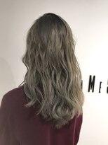 フレイムスヘアデザイン(FRAMES hair design)ハイグレージュカラー×重軽セミロング