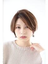 エクリ マノン(equri manon)◆大人かわいい小顔丸みのあるショートボブ 20代30代40代 麻布