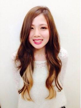 トリプルエイチ(HHH for hair)ハイトーンインナーカラー☆ロング