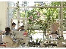 アンジェリック(angeliQue)の雰囲気(オープンテラスが気持ちいい美容室です。)