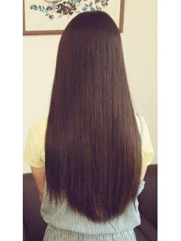 ヘアーメデュー(Hair medu)の写真/【愛されるエレガントなStyle★】毛先までしなやか☆やわらかい手触りが魅力の《ナチュラルストレート》♪