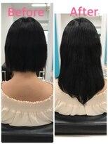 マーメイドヘアー(mermaid hair)ショートボブをナチュラルなセミロングに!