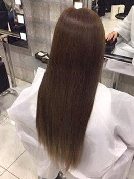アザラ(AXARA)の写真/海老名で唯一の弱酸性・髪質改善《Dr.バイオ縮毛矯正》覚えていますか?生まれた頃のみずみずしい髪質へ…