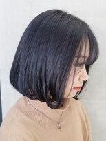 テトヘアー(teto hair)ボブ パープル グレイ 重めボブ 韓国スタイル ラベンダー