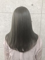 アールプラスヘアサロン(ar+ hair salon)透け感たっぷり艶グレージュ