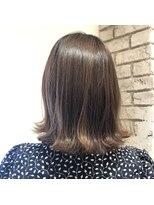ヘアーエスクール 本店(hair S.COEUR)切りっぱなしボブスタイル