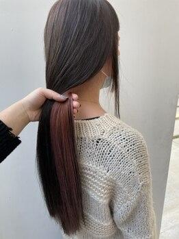ヘアーラウンジ スリービー (HAIR LOUNGE THREE BEE)の写真/クセやうねり・ボリュームダウンに特化した注目の縮毛矯正≪オイルストレート≫で柔らかさ×仕上がり◎