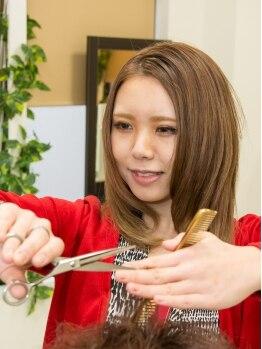 ル シエル ヘアー デザイン(LE CIEL)の写真/カット+縮毛矯正+TR¥13608(初回)☆より自然なストレート。くせ毛をメリットに変える立体カットもお任せ!!