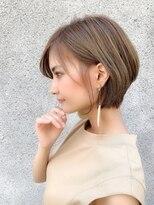 ノット(Knot)【knot阿部展大】大人可愛い小顔丸みエッジショートボブ☆