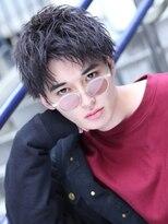 リップス 渋谷(LIPPS)男のセンターパートスパイラル【ラギッドウェービー】