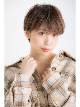 ビス ヘア アンド ビューティー 西新井店(Vis Hair&Beauty)10代20代小顔マニッシュショートモカベージュ