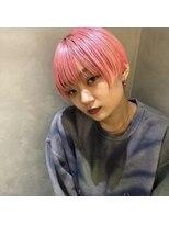 リッチ(RITZY)【RITZY】ピンクシルバー☆ブリーチカラー☆ショートボブ