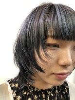 コレット ヘアー 大通(Colette hair)☆あいみょん風ウルフ×デニムカラー☆