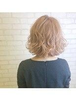 ビス ヘア アンド ビューティー 西新井店(Vis Hair&Beauty)ラズベリーピンクベージュ/ミルクティー/くせ毛風パーマ/ボブ