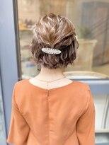 【林 杏香】ショートカットのヘアセット