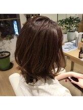 ハブコヘアスパ(HaBCo hair spa)外ハネ☆かきあげレイヤーボブ