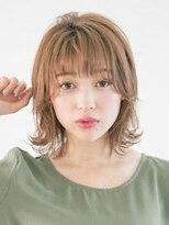 アース 新長田店(HAIR&MAKE EARTH)外ハネ切りっぱなしボブ