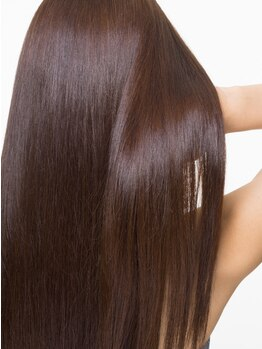 """ヘアーオブジェ 末広店(Hair OBJET)の写真/今までの常識を覆す『非常識ストレート』!!""""輝髪""""によって毛先まで艶サラが叶う♪仕上がりの違いに感動!!"""