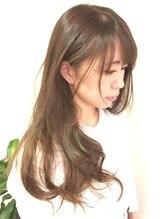 プライベート ヘアーサロン アイリス(Private Hair Salon Iris)【ゆるらカール☆】ヌーディーなマット系で上品な透明感を♪
