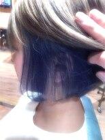 ☆青のインナーカラー☆attic siva