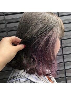 ノル(nol hair&spa)上品インナーカラー
