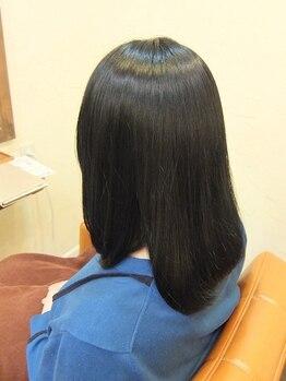 美容室アンバー(amber)の写真/【北上】《ダメージを事前に防ぐ新ケアメニュー導入☆》ダメージを約80%防ぎ髪の内部から強く美しい髪へ!