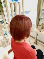 ハーフバックス 多摩境店(HAIR STUDIO HALF BACKS×1/2)ピンクレッドヘアカラー