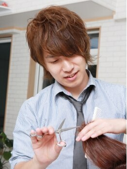 ヘアデザイン レイ(hair design Ray)の写真/【カット+カラー120分¥9720→¥7480】リピート率の高さが自慢!輪郭に合わせた小顔カットがオススメ♪