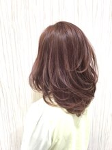 ミック ヘアアンドメイクアップ 大塚店(miq Hair&Make up)【miq大塚】ピーチベージュカラー