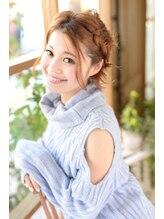 シータ 草加店(THETA)【シータ草加】三つ編み センターパートアレンジ