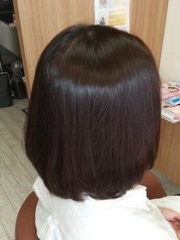 美容室 ココ(COCO)の写真/サロンオススメオイルカラー!〈白髪染め+カット+炭酸泉¥12420→¥8640〉美しい艶髪で見た目も若々しく変身◎