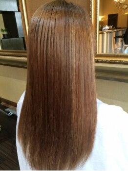 """ヘア デザイン アウルム(hair design aurum)の写真/【壬生/本丸】リピート率80%以上の""""傷ませない""""Dr.カラーでハリコシUP!毎回フルカラーで髪をキレイに♪"""