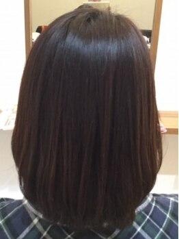 ヘアルーム サイ(hair room SAI)の写真/【東姫路駅すぐ★当日予約OK】人気の《トリートメントストレートパーマ》体験すると普通の縮毛には戻れない