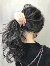 ラックスビー ユース 神戸三宮さんプラザ店(LUXBE YOUTH)■ブルーグレージュ×ホワイトペールバレイヤージュハイライト■