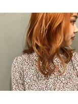 アルマヘアー(Alma hair by murasaki)発色がいいINOカラーでビビットORENGEに