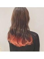 ネオヘアー 曳舟店(NEO Hair)オレンジピンクのグラデーションカラー(曳舟)