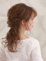 オーブ ヘアー アウラ 福岡3号店(AUBE HAIR aura)【AUBE HAIR】お呼ばれヘア_王道カワイイハーフアップ