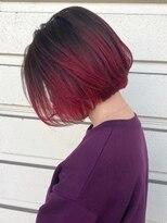 ルッツ(Lutz. hair design)レッドグラデーション