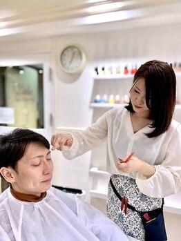 ヘアサロン ブランロール 白金店(Hair Salon Blanl'or)の写真/【白金高輪5分】【2席プライベートサロン】新生活応援!幅広い職種のお客様に合わせて[眉のお手入れ]も◎