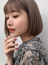 トリコ ショップアンドヘアサロン(tricot shop hair salon)大人可愛いシースルーバング小顔ボブ☆20代30代40代